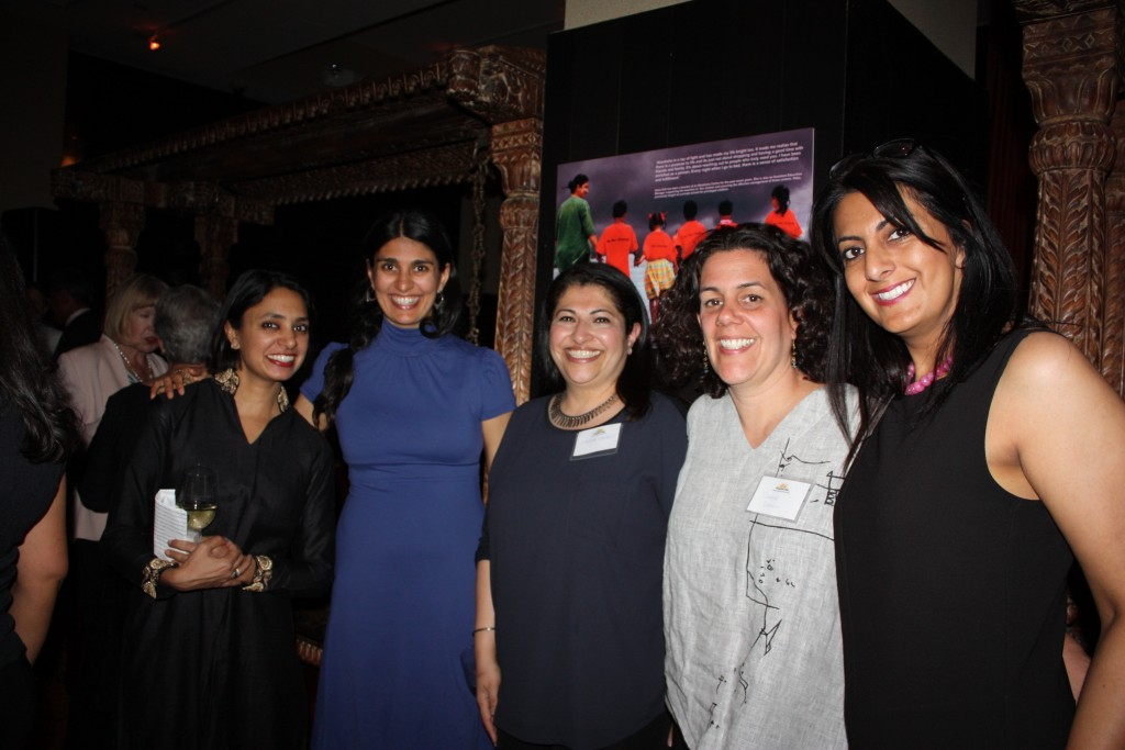 andana Goyal CEO of Akanksha Foundation (Far Left) and Gouri Sadwani Executive Director of Akanksha Fund (Far Right)