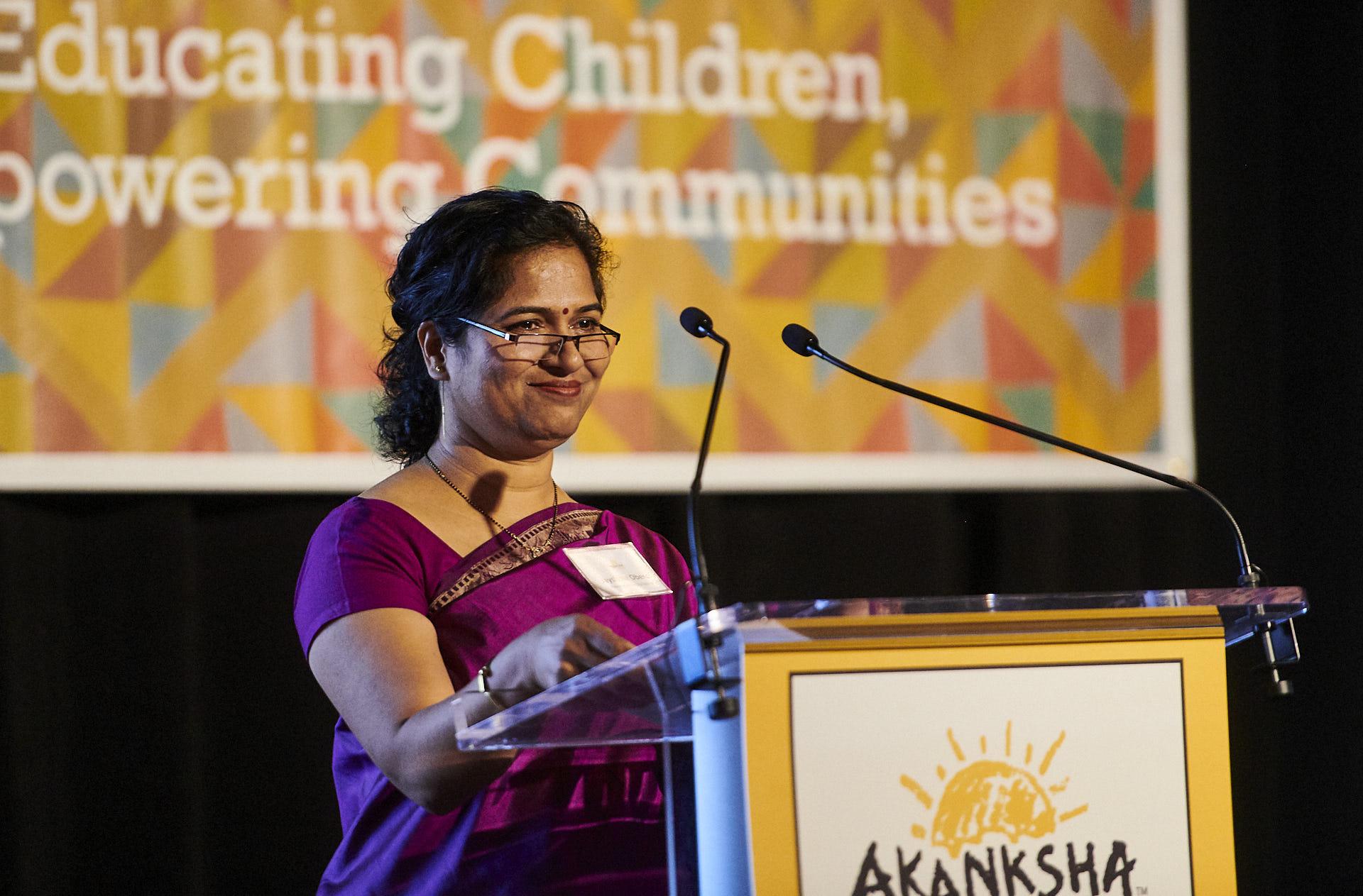 Jayshree Oberoi, Senior Director of Akanksha Schools in Pune